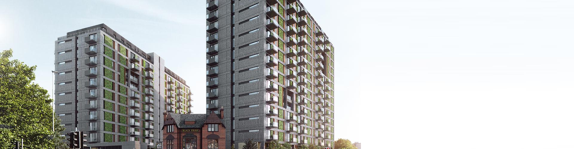 Blackfriars Apartments, Manchester Banner
